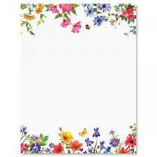 Wildflowers Letter Papers