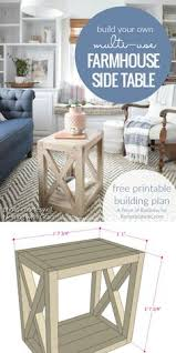 diy farmhouse side table building plan build this versatile multi use farmhouse end table diy furniture