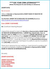 congress meeting appointment request letter