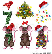 little mouse set a scarfs and red