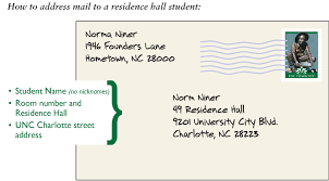 how to address a letter with a po box mail package services auxiliary services unc charlotte