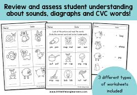 Say a sound and children identify the correct letter(s) by circling/colouring. Phonics Worksheets Assessment And Revision Little Lifelong Learners