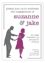 Dance Invitation Ideas Plum Dancing Couple Silhouette Invitation