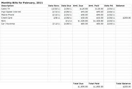 Excel Template For Bills Excel Bill Payment 48 Similar