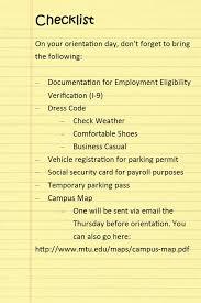 new employee orientation schedule new employee orientation human resources michigan tech