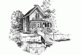 Eplans Gothic Revival House Plan   Carpenter Gothic Charmer      Front