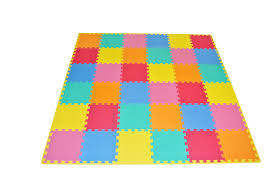 floor mats for kids. ProSource Puzzle Solid Foam Play Mat For Kids - 36 Tiles With Edges Floor Mats G