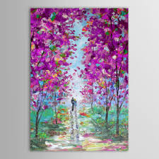 wall art canvas best ing hand painted lover purple flower forest landscape abstract oil painting living room bedroom decor in painting calligraphy