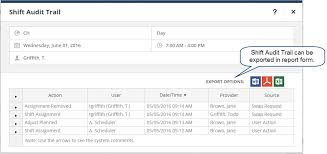 Shift Assignment Auditing Shift Changes Tangier Software
