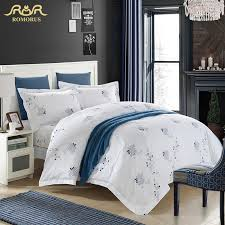 romorus white hotel duvet cover set top quality cotton stan hotel bedding set king queen size with pillows duvet sets duvet covers queen from