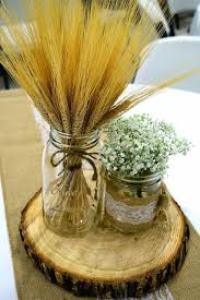 Decorating With Mason Jars And Burlap Doris Wedding Centerpiece Mason Jars Burlap Wheat Baby's Breath 77