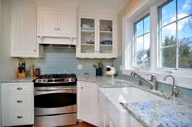 Colonial Cream Granite Kitchen Kitchen Modern Gray Blue White Kitchen Remodel Granite Counters