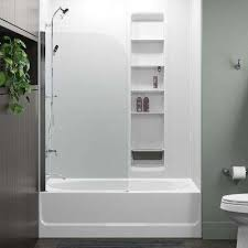 whiston 32 in x 56 9375 in frameless fixed tub door in silver frame without
