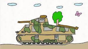 Cách vẽ xe tăng đại chiến đơn giản để làm phim hoạt hình xe tăng - draw  tanks for animation - YouTube