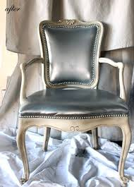 dressing room metallic vinyl chair makeover. Spray Paint ChairsPainted ...