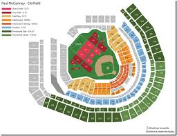 Seating Chart For Paul Mccartney Test Blog Seating Chart For Paul Mccartneys Citi Field Concert