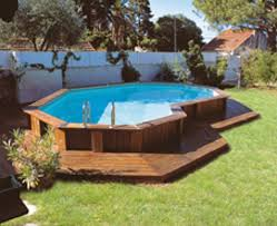 ... Impressive Image Of Backyard Landscaping Decoration Using Above Ground  Round Pool Deck Ideas : Sweet Image ...