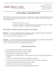 marketing objectives resume examples examples of career objectives for resume