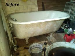 how to clean an old stained bathtub