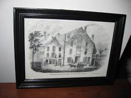 antique wood picture frames. ANTIQUE 1800\u0027S BOOKPAGE Representation Of The Old Brewery At Five Points New York Antique Wood Frame Painted Black 8 3/4\ Picture Frames T