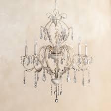 Kathy Ireland Devon 5-Light Antique White Crystal Chandelier ...