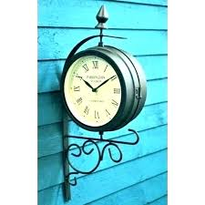outdoor clock on stand large outdoor wall clocks outdoor clock on stand outdoor clock thermometer garden outdoor clock
