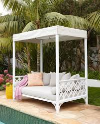Bedroom:Beautiful Outdoor Bed With Cream Canopy And Square Cushion Ideas  Stunning Outdoor Grey Bed