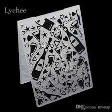 whole plastic embossing folder for sbook diy al card tool plastic template stamp party wine glass goblet star postcard postage stamps special