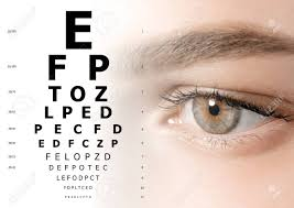 Woman And Eye Chart Closeup Ophthalmologist Consultation