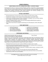 financial resume template contributed to the financial resume sample chief financial