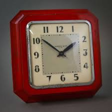 image is loading 1930 039 s antique e ingraham aristocrat red  on art deco wall clock ebay with 1930 s antique e ingraham aristocrat red art deco metal 8 day