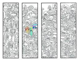 Coloring Bookmarks Pages Bookworm Bookmark Page Free Colouring