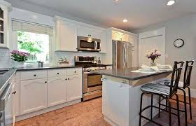 Modren Painting Oak Kitchen Cabinets White After Intended Decorating Ideas