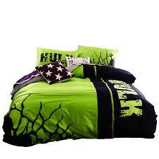 Hulk bedding set 100% cotton night-luminous duvet cover sheet designer  bedding sets high