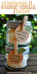 homemade orange vanilla sugar makes a sweet gift sugar is infused with orange essential oil