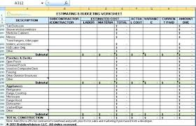 Residential Estimating Spreadsheet As How To Make A Spreadsheet