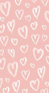 Pastel Pink Hearts iPhone Wallpaper ...