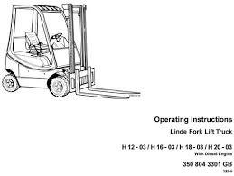 linde forklift truck h350 03 series