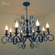 lovable lights for chandeliers luxury painted blue iron 31 8 lights chandeliers new modern living
