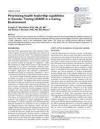 Saskatchewan Health Authority Organizational Chart Pdf Prioritizing Health Leadership Capabilities In Canada