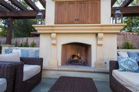 image of prefabricated outdoor fireplace units