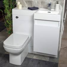 Sink And Toilet Combo Summers 900 Wc And Vanity Combination Unit Gloss White Right