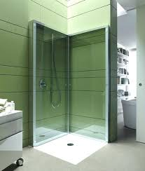 flat folding shower frees up space in compact bathrooms designs fold away shower doors folding shower