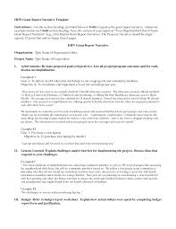 Grant Report Form Best Photos of Grant Report Template Sample Grant Narrative Report 1