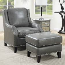 Larina Accent Chair Ottoman Decorative Chairs Gray in Elegant