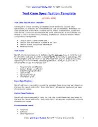 Test Case Specification Template
