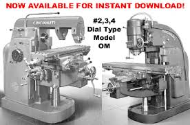 cincinnati milling machine co manuals cincinnati 2 3 and 4 dial type milling machines model om maintenance parts manual if your machine looks like