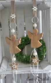 Fensterdeko Weihnachten Engel Mit Stern Holz Massiv Perlen