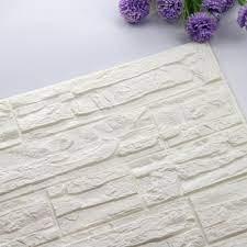 DIY 3D Brick PE Foam Wallpaper Panels ...