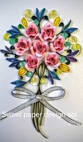 Paper Quilling Flower Bokeh Paper Quilling Flower Bouquet Card For Birthday Mothers Day